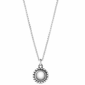 MOONLIGHT BLOSSOM Silver Round Pendant