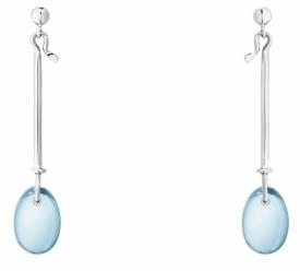Georg Jensen DEW DROP Earrings with Blue Topaz