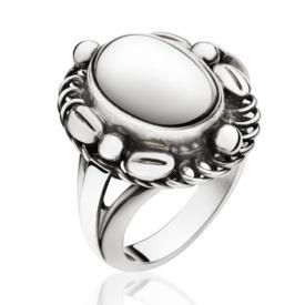 MOONLIGHT BLOSSOM Silver Ring