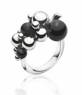 MOONLIGHT GRAPES ring in black onyx, small