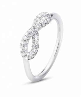 INFINITY ring with brilliant cut diamonds