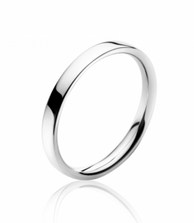 MAGIC Plain 18ct White Gold Ring