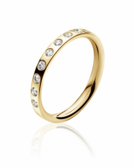 Magic Ring 18 ct yellow gold, 9 brilliants, 0.18 ct.