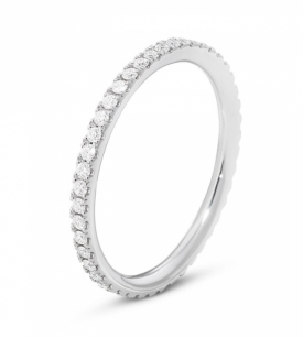 AURORA White Gold Eternity Ring With Brilliant Cut Diamonds