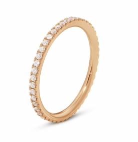 AURORA Rose Gold diamond eternity ring