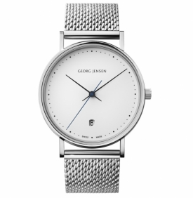 KOPPEL Watch 38mm White Dial, Steel Mesh Bracelet