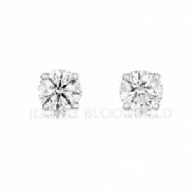 Platinum Diamond Earrings 0.67ct GIA - 0