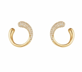 MERCY Yellow Gold Earrings with Diamonds