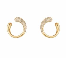 MERCY Yellow Gold Earrings with Diamonds