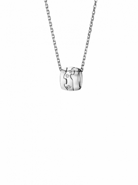 FUSION 18 kt. White Gold Pendant with Scattered Diamonds