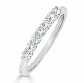 Kite Set Eternity Ring 0.35ct