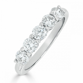 Kite Set Eternity Ring 1.00ct