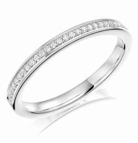 Diamond Set Wedding Ring 0.12ct