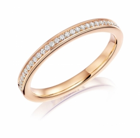 Diamond Set Wedding Ring in 18ct Rose Gold 83X01