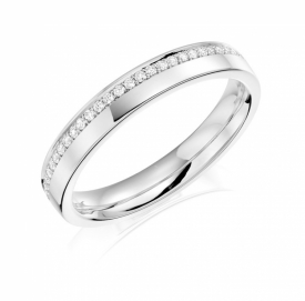 PLATINUM Diamond Set Wedding Ring 83X05