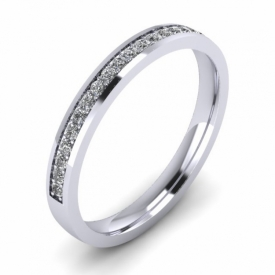 Diamond Set Wedding Ring (0.24ct)