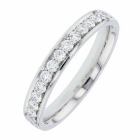 CHARLES GREEN Diamond Set Wedding Ring 0.45ct 83X20