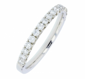 Diamond Half-Set Wedding Ring in Platinum 83X25