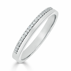 Diamond Half-Set Wedding Ring in Platinum 83X37