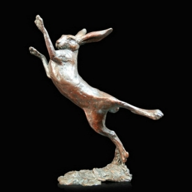 Small Hare Boxing from Richard Cooper Bronzes
