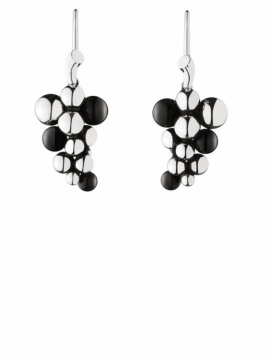 MOONLIGHT GRAPES  Earhooks with Black Agate - 0