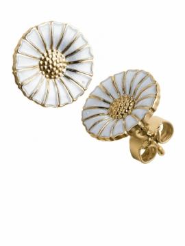 Daisy White & Gold Ear Studs - 0