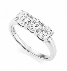 Platinum Diamond 3 Stone Ring 1.50ct GIA - 0