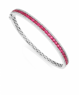 Ruby and Diamond Bangle - 0