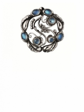 MOONLIGHT Brooch 159 with Moonstone - 0