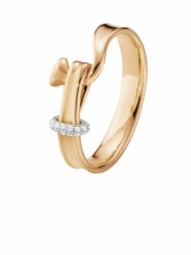 Torun Rose Gold Ring With Diamonds - 0