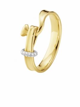 Torun Gold Ring With Diamonds - 0