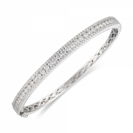Diamond bangle in 18 ct White Gold