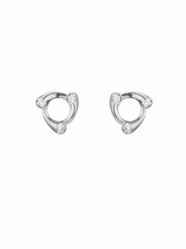 MAGIC Circle White Gold Diamond Earrings - 0