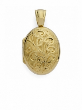 Charles Green Engraved Gold Locket - 0
