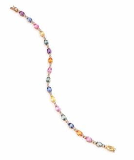 Sheldon Bloomfield Diamond and Multi-Sapphire Bracelet
