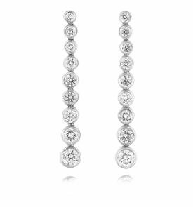 Diamond Raindrop Flexible Earrings 0.97ct