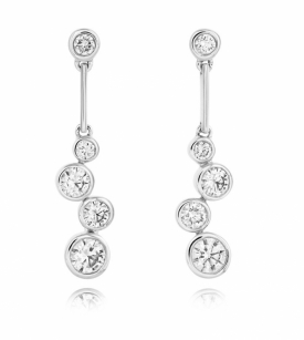 Sheldon Bloomfield Diamond Raindrop Earrings in 18ct White Gold