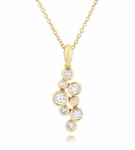 Diamond Raindrop Pendant in 18ct Yellow Gold 0.53ct