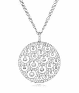Diamond Pave Drops Pendant