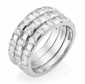 Three Ring Diamond Half-Eternity Ring 1.89ct