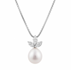 South Sea Pearl 12.2mm and Marquise Diamond Pendant 0.94ct