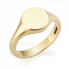 Round Head Signet Ring in 9ct Yellow Gold