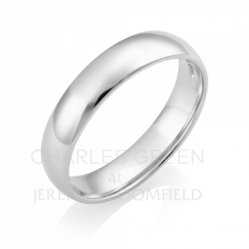 Light Court Gents 4mm Platinum Wedding Ring