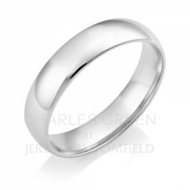 Light Court 5mm Platinum Wedding Ring handmade