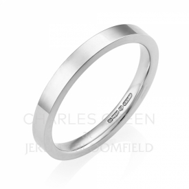 Medium Flat Court 2.5 mm Platinum Wedding Ring  Platinum Wedding Ring