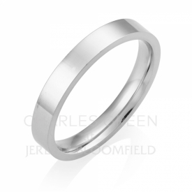Medium Flat Court 3mm Platinum Wedding Ring Platinum Wedding Ring