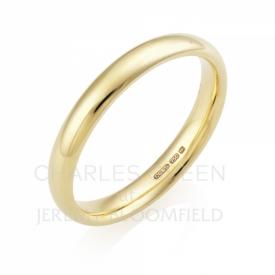 Medium Court 3mm 18ct Yellow Gold Wedding Ring