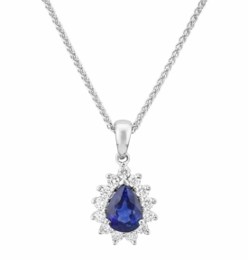 Pear Shaped Sapphire Pendant 0.64ct  with GVS Diamonds