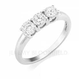 Platinum 3 Stone Diamond Ring 0.76ct