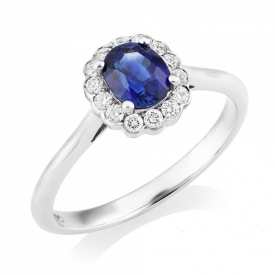 Vintage Style Oval Sapphire 0.88ct Ring